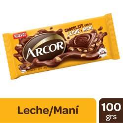 Chocolate con Leche con Maní Arcor x 100 g.