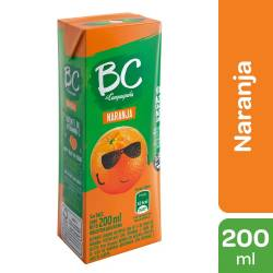 Jugo BC Naranja x 200 cc.