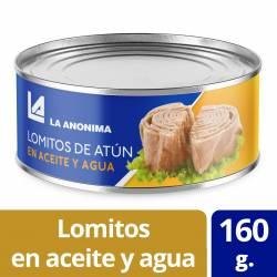 Atún en Aceite y Agua en Lomitos La Anónima x 160 g.