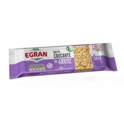 Barra Crocante de Arroz Egran con Coco x 60 g.