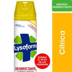 Desinfectante Aerosol Lysoform Cítrica x 360 cc.