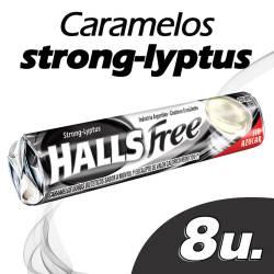 Caramelos Mentol y Eucalipto Halls Free sin azúcar x 20 g.