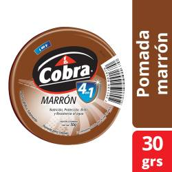 Pomada Lata Cobra Marrón x 30 g.