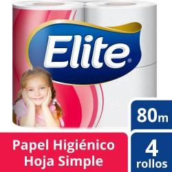 Papel Higiénico Hoja Simple Elite Extra 80 m x 4 un.