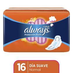 Toalla Higiénica Always Normal con Alas Suave x 16 un.