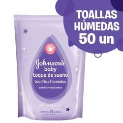 Toallitas Húmedas Johnsons Baby Toque de Bebé x 50 un.