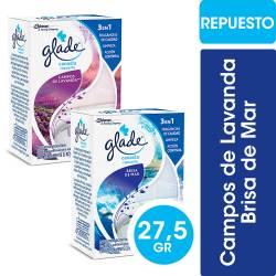 Desodorante para Inodoro Canasta Repuesto Glade 2 Fragancias x 27 g.