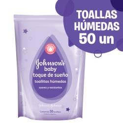 Toallitas Húmedas Johnsons Baby Toque de Sueño x 50 un.