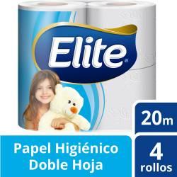 Papel Higiénico Doble Hoja Elite Seda 20 m x 4 un.