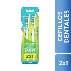 Cepillo Dental Pro Duro - Doble Acción x 2 un.