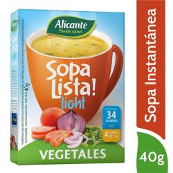 Sopa Lista Alicante Vegetales Light x 40 g.