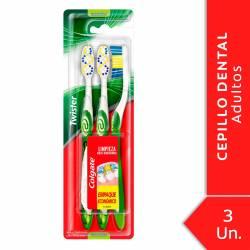Cepillo Dental Colgate Twister Medio x 3 un.