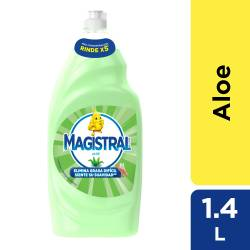 Detergente Líquido Espuma Activa Magistral Aloe x 1,4 Lt.