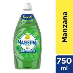 Detergente Líquido Espuma Activa Magistral Manzana x 750 cc.