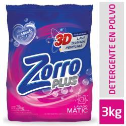 Jabón Polvo Baja Espuma Zorro Clásico x 3 kg.