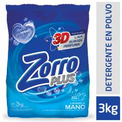 Jabón Polvo Regular Zorro x 3 kg.