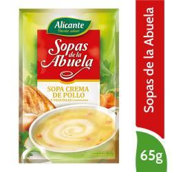 Sopa Crema de Pollo Alicante x 65 g.