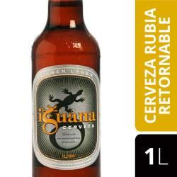 Cerveza Rubia Iguana Retornable x 1 Lt.