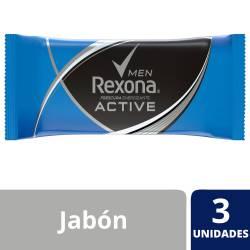 Jabón de Tocador Rexona Active x 375 g.