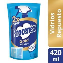 Limpiador Líquido Vidrios Procenex Doy Pack x 420 cc.