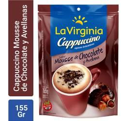 Café Instantáneo Cappuccino La Virginia Mousse de Chocolate y Avellana x 155 g.