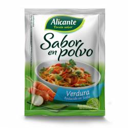 Caldo Saborizante Alicante Verdura - Reducido en Sodio x 24 g.