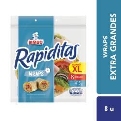 Rapiditas Wraps Bimbo x 8 un. 415 g.