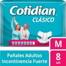 Pañal Adultos Clásico Cotidian M x 8 un.