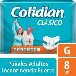 Pañal Adultos Clásico Cotidian G x 8 un.
