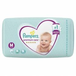 Pañal Pampers Premium Care Híper Pack M x 52 un.