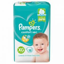 Pañal Pampers Confort Sec Mega Pack XG x 18 un.
