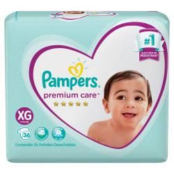 Pañal Pampers Premium Care Híper Pack XG x 36 un.