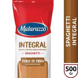 Fideos Spaghetti Integral Matarazzo x 500 g.