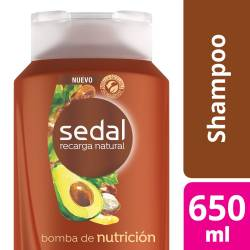 Shampoo Sedal Bomba Nutrición x 650 cc.