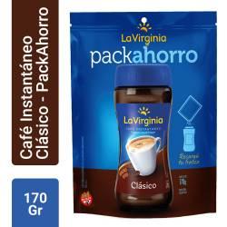 Café Instantáneo Clásico La Virginia Pack Ahorro x 170 g.
