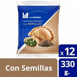 Tapas para Empanadas La Anónima con Semillas x 12 un. 330 g.