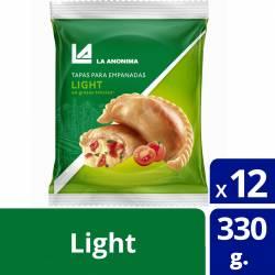Tapas para Empanadas La Anónima Light x 12 un. 330 g.