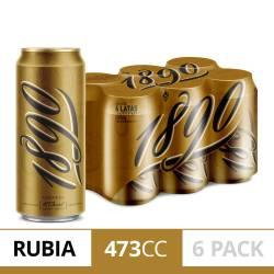Cerveza 1890 Pack x 6 Latas de 473 cc.