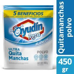 Quitamanchas Polvo Ayudín Ropa Blanca - 5 Beneficios x 450 g.