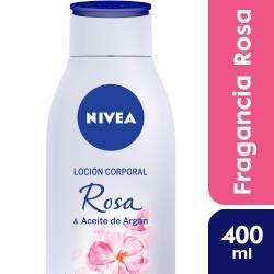 Crema Corporal Nivea Rosa y Aceite de Argán x 400 cc.