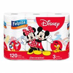 Rollo Cocina Decorados Felpita Disney x 3 un.