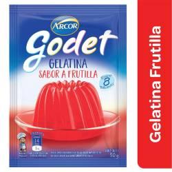 Gelatina en Polvo Godet Frutilla x 30 g.