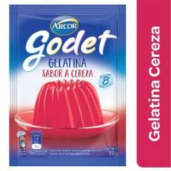 Gelatina en Polvo Godet Cereza x 30 g.