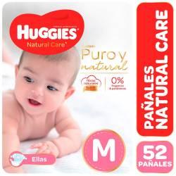 Pañal Huggies Natural Care Minnie Híper Pack M x 52 un.