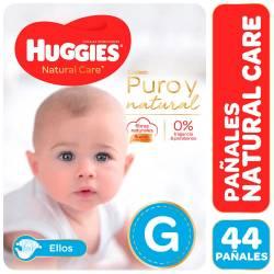 Pañal Huggies Natural Care Mickey Híper Pack G x 44 un.