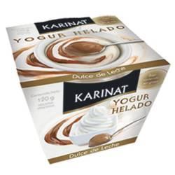 Yogur Helado Karinat Dulce de Leche x 120 g.