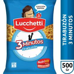 Fideos Tirabuzon 3 Minutos Lucchetti x 500 g.