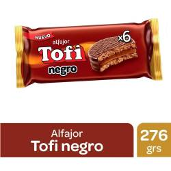 Alfajor Dulce de Leche Tofi Negro x 6 un. 276 g.