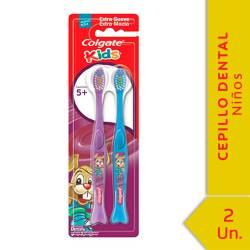 Cepillo Dental Colgate Infantil +5 Años x 2 un.