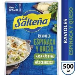 Ravioles La Salteña Espinaca y Muzzarella x 500 g.